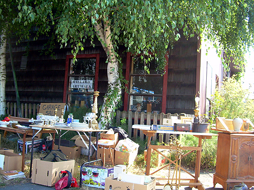Yard sale at Salty Dog Pottery