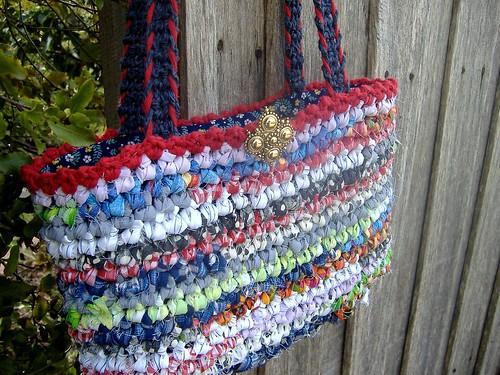 making a rag bag by Laughing Purple Goldfish