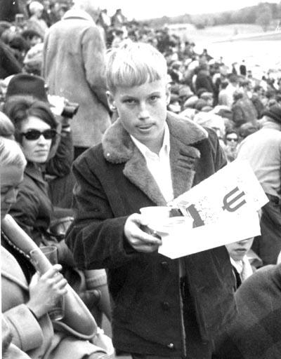 Rick at IU football game, c. 1970