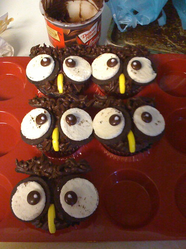 Owl Cupcakes for Halloween
