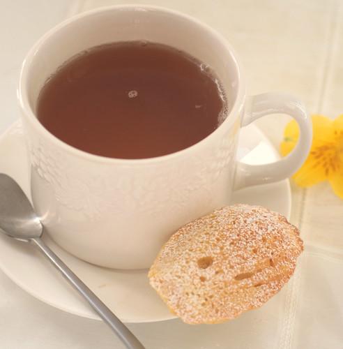 Tea with a madeleine