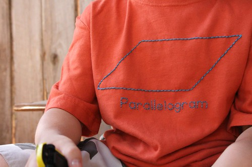 parallelogram t-shirt by Blogging Molly.