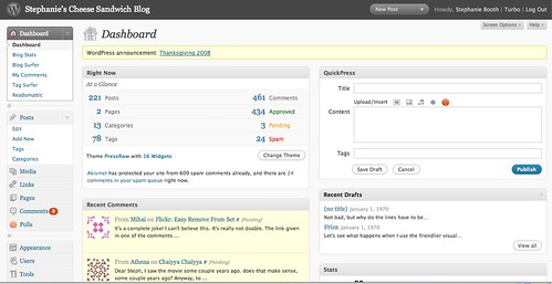 New WordPress Admin Dashboard