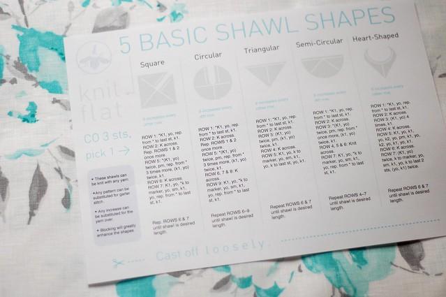 Free Shawl Knitting Cheat Sheet by Laylock