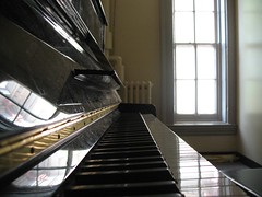 Piano in a Practice Room