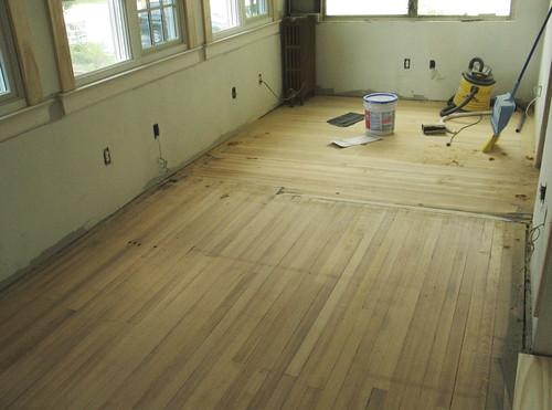 Sanded floor 1