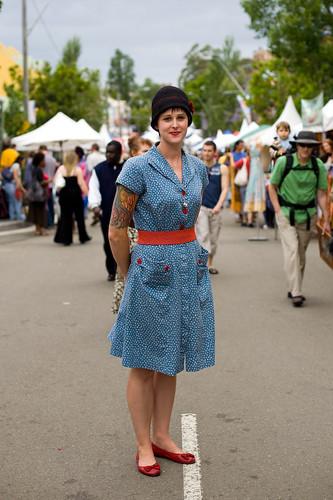 50's look - Glebe street fair