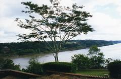 Puerto Iguazu looking to Paraguay