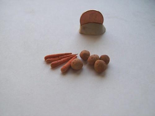 mini potatoes and carrots