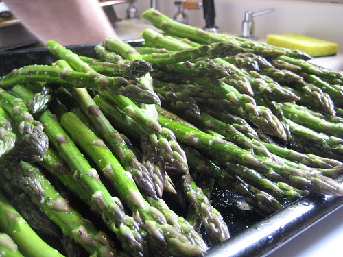 Asparagus before grilling