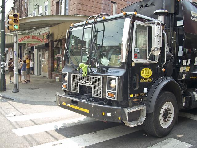 Trash Truck Mascot