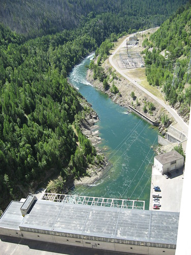South Fork of the Flathead River from Hungry Horse Dam