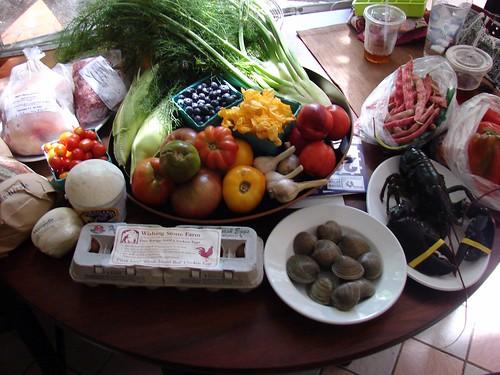 Farmers' Market haul, 8/9/08 (part 1)