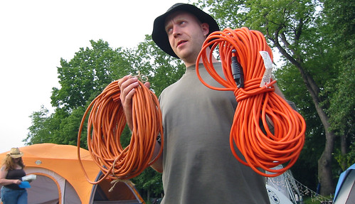 20080702 - X-Day at Brushwood - 160-6035 - Rev. TwoBeans carrying extension cords - please click through to leave a comment on FlickR