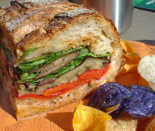 Veganomicon Muffuletta in the great outdoors