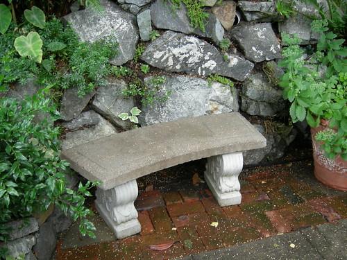 Sweet sidewalk bench