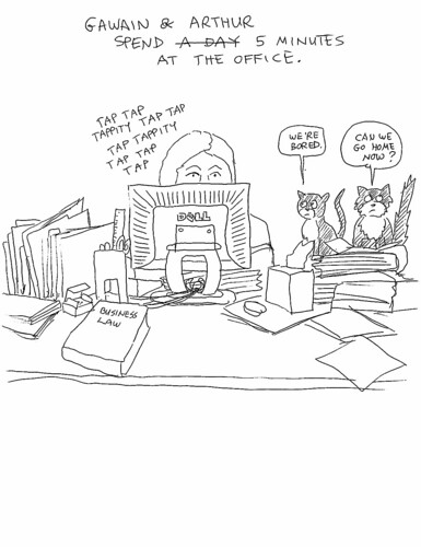 Office Cat Cartoon