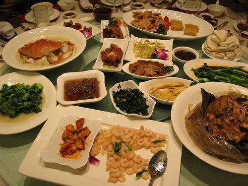 the feast at Lou Wai Lou in Hangzhou