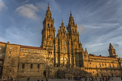 Cathedral of Santiago de Compostela in the Sunset
