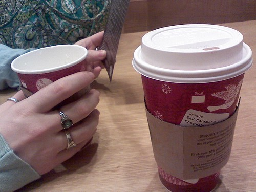 Our one trip out - Starbucks.
