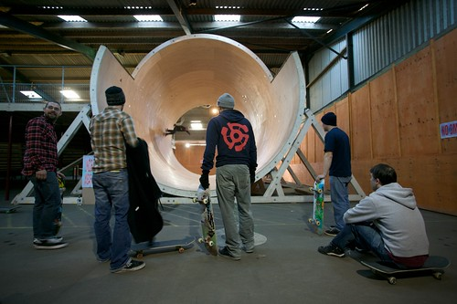 The crew in front of the Simparch fullpipe