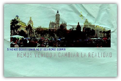 Postal 15M en Valencia
