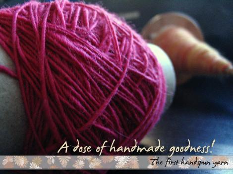The first handspun yarn...