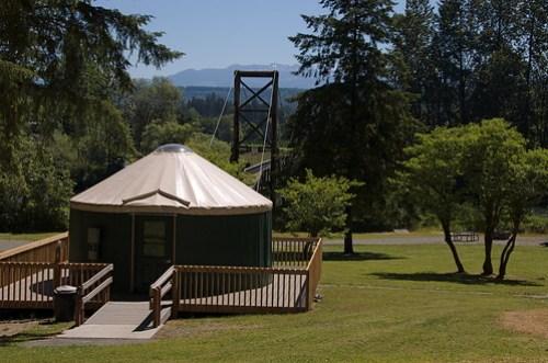 Tolt-MacDonald Park yurts and suspesnion bridge