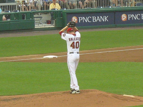 Collin Ballester at Nationals Ballpark
