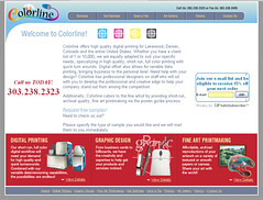 Colorline website