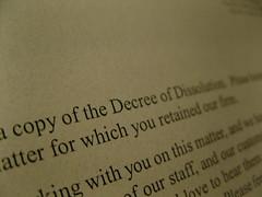 decree/ dissolution