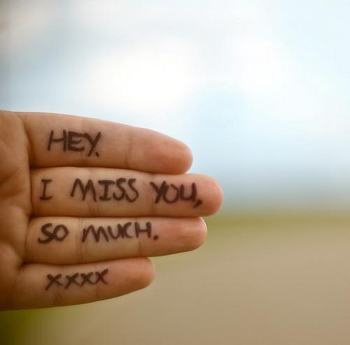 Hey, i miss you