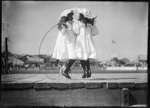 Girls skipping at an athletics carnival