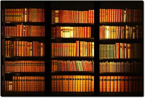 Bookshelf at the British Library