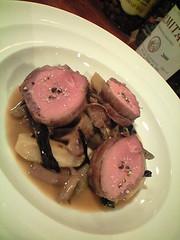 島根産若猪と根菜、キノコの蒸し焼き コーヒー風味@トゥールネ・ラ・ページュ