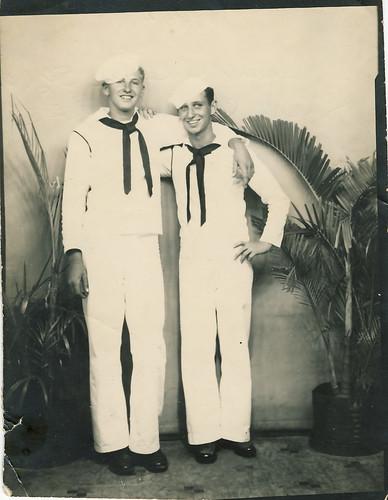 Grandpa (left) and Friend