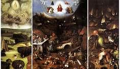 """Hieronymus Bosch, """"El Bosco"""". Triptico El juicio final."""