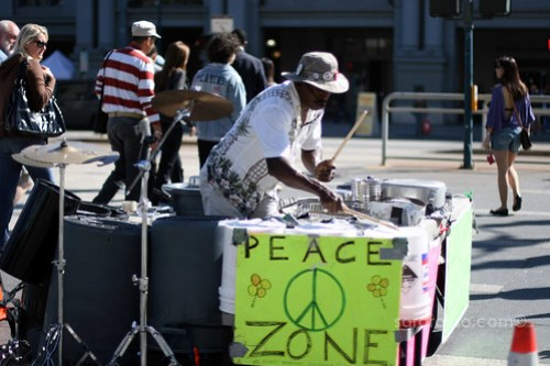 Peace Zone Performer in San Francisco