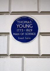 London Blue Plaque - Thomas Young, Man of Science