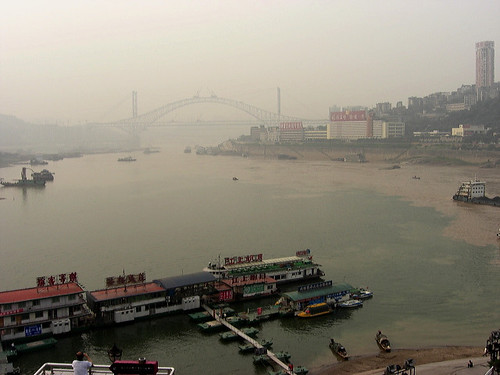 Yangtze river and Chongqing air