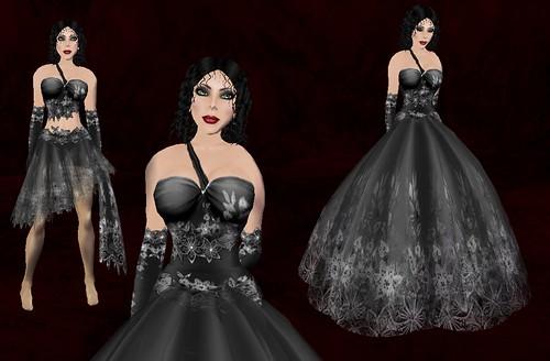 Simone - Poinsettia - Black