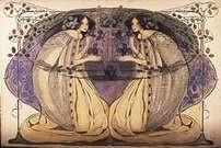 Frances Macdonald y Herbert McNair. Doves and Dreams.