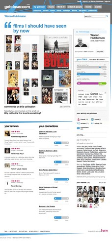 HMV Getcloser.com - User Profile