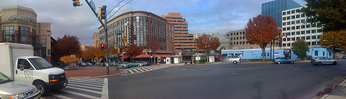 Bethesda Ave/Woodmont Ave in Bethesda, Maryland - Taken With An iPhone
