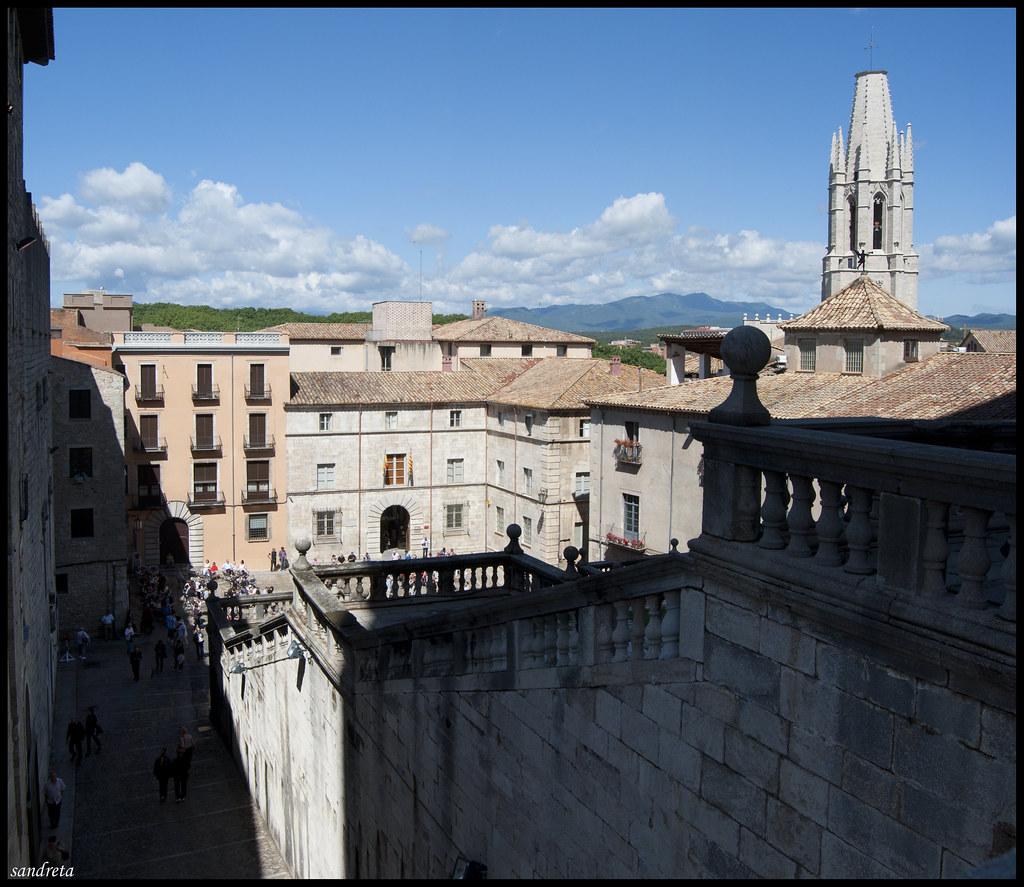 Las escaleras de la Catedral