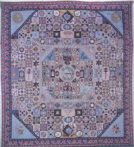 Patchwork Quilt, maker unknown, 1797. Victoria and Albert Museum collection