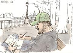 simon sketching on the south bank