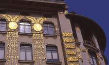 Koloman Moser. Decoración de fachada para casa construida por Otto Wagner.