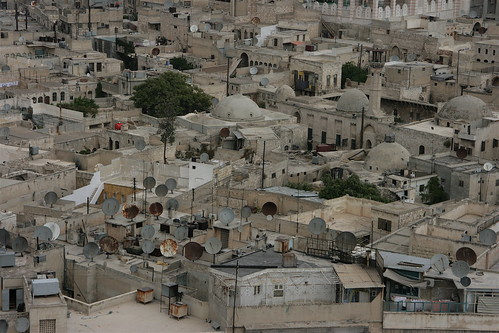 view of part of the old city, Aleppo, Sept. 2008