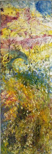 Topiarius mixed media/acrylic on canvas, 12x36